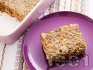 Рецепта Печена вегетарианска леща на фурна със заливка от прясно мляко и яйца